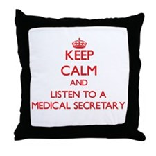 Keep Calm and Listen to a Medical Secretary Throw