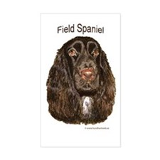 Field Spaniel liver Rectangle Bumper Stickers