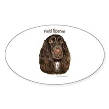 Field Spaniel liver Oval Decal