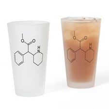 Methylphenidate Molecule Drinking Glass