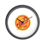 African Terrorist Hunter Wall Clock