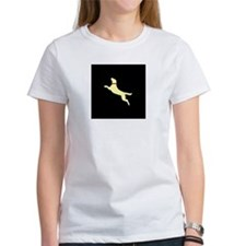 yellow lab black background T-Shirt