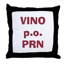 Vino p.o. PRN Throw Pillow
