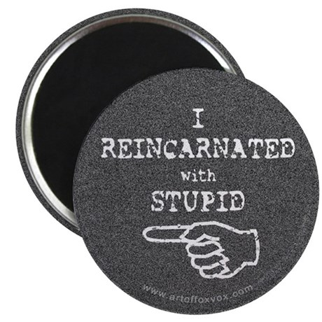 I Reincarnated With Stupid (left) Magnet