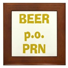 Beer p.o. PRN Framed Tile