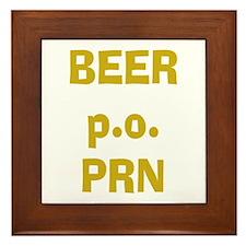 Beer p.o. PRN Framed Tile