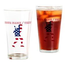 Custom Baseball Batter American Flag Drinking Glas