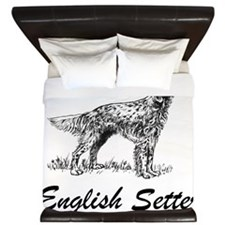 English Setter King Duvet