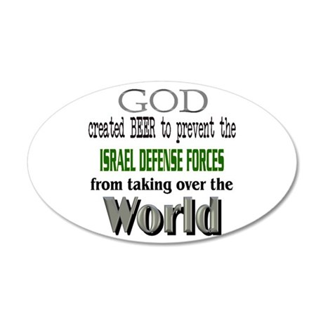 Idf And Beer 20x12 Oval Wall Decal