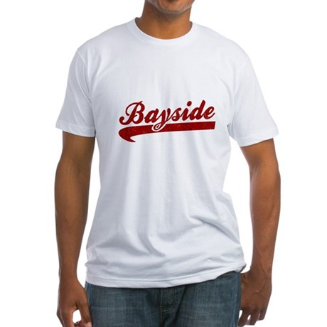 Bayside Tigers (Distressed) Fitted T-Shirt