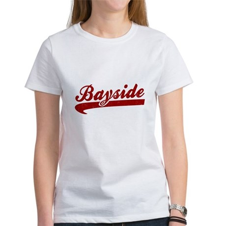 Bayside Tigers (Distressed) Womens T-Shirt