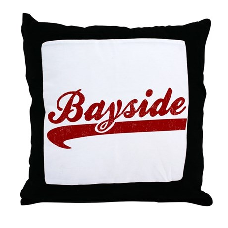 Bayside Tigers (Distressed) Throw Pillow
