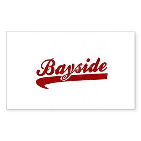 Bayside Tigers (Distressed) Rectangle Sticker