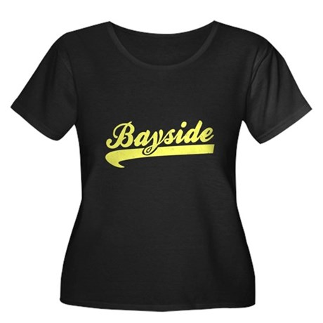 Bayside Tigers (Distressed) Womens Plus Size Scoo