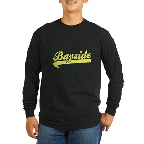 Bayside Tigers (Distressed) Long Sleeve Dark T-Shi