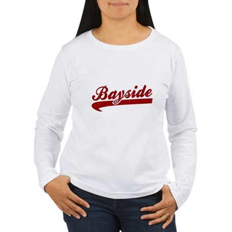 Bayside Tigers (Distressed) Womens Long Sleeve T-