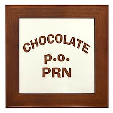 Chocolate p.o. PRN Framed Tile