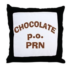 Chocolate p.o. PRN Throw Pillow
