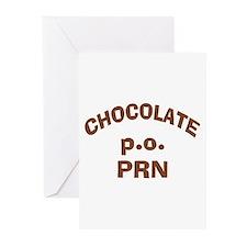 Chocolate p.o. PRN Greeting Cards (Pk of 10)