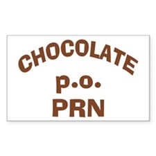 Chocolate p.o. PRN Sticker (Rectangle)