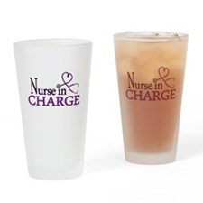 Nurse in Charge - Purple Drinking Glass