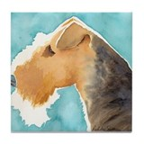 Airedale Terrier Stuff Tile Coaster