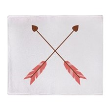 Valentine Heart Arrows Throw Blanket
