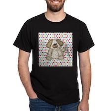 Cute Dog on Polka Dots T-Shirt