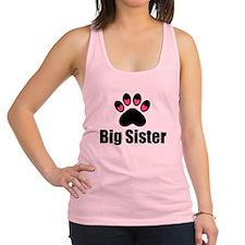 Big Sister Paw Print Racerback Tank Top