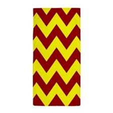 Maroon and Gold Chevron Beach Towel