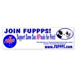 FUPPPS Bumper Sticker Pets