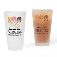 Cancer Awareness Drinking Glass
