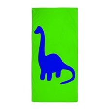 Blue Brontosaurus Beach Towel