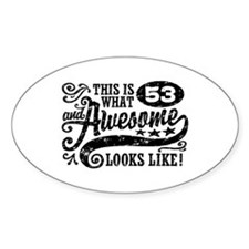 53rd Birthday Decal