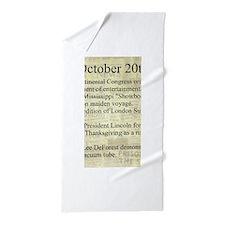 October 20th Beach Towel