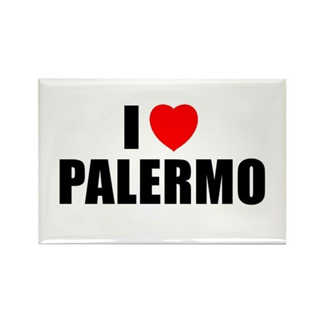 I Love Palermo, Italy Rectangle Magnet (10 pack)