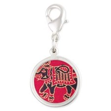 The Great Indian Elephant Silver Round Charm