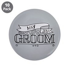 """Groom 2014 May 3.5"""" Button (10 pack)"""