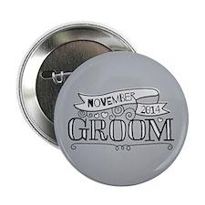 "Groom 2014 November 2.25"" Button (10 pack)"