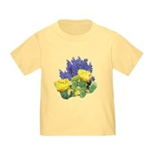 CACTUS FLOWERS AND BLUEBONNET T