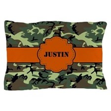 Camo Print Personalized Pillow Case