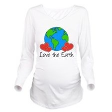 Love The Earth Design Long Sleeve Maternity T-Shir
