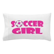 Soccer Girl Pink Pillow Case