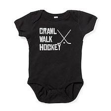 Crawl Walk Hockey Baby Bodysuit