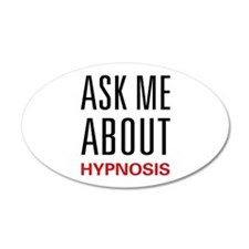 Ask Me About Hypnosis 38.5 x 24.5 Oval Wall Peel