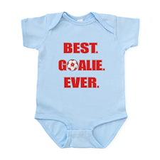 Best. Goalie. Ever. Red Infant Bodysuit
