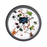 Funny Bug Wall Clock