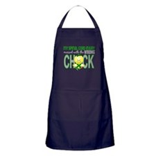 Spinal Cord Injury WrongChick1 Apron (dark)