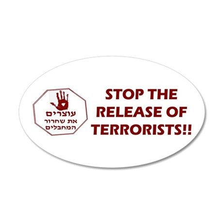 Stop Terrorist Releases 35x21 Oval Wall Decal