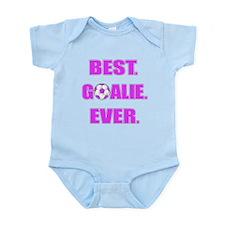 Best. Goalie. Ever. Purple Infant Bodysuit